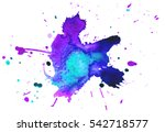 colorful abstract watercolor... | Shutterstock .eps vector #542718577