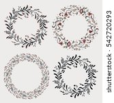 floral wreaths collection on... | Shutterstock .eps vector #542720293