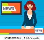 modern television presenter... | Shutterstock .eps vector #542722633