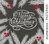 christmas card.vector... | Shutterstock .eps vector #542725423