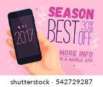 best season shopping for mobile ... | Shutterstock .eps vector #542729287