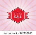 big sale poster. promotion... | Shutterstock .eps vector #542732083