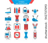 icon set of outline healthcare... | Shutterstock .eps vector #542737093