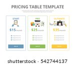 pricing table template with... | Shutterstock .eps vector #542744137