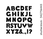 puzzle font. vector... | Shutterstock .eps vector #542756443
