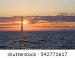 Sunset Over The Mackinac Bridg...