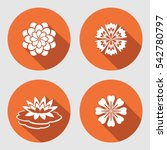Flower Icons Set. Lily ...