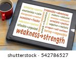turn your weaknesses into... | Shutterstock . vector #542786527