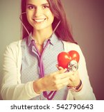 a doctor with stethoscope... | Shutterstock . vector #542790643