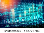 stock market or forex trading... | Shutterstock . vector #542797783