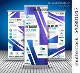 set of advertisement roll up... | Shutterstock .eps vector #542801017