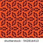 ornamental seamless pattern.... | Shutterstock .eps vector #542816413