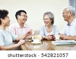 small group of senior asian... | Shutterstock . vector #542821057
