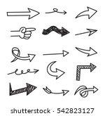 set of arrow doodle design... | Shutterstock .eps vector #542823127