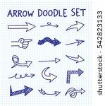 set of arrow doodle design... | Shutterstock .eps vector #542823133
