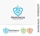 home secure  insurance ... | Shutterstock .eps vector #542826247