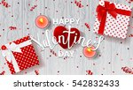 happy valentine's day greeting... | Shutterstock .eps vector #542832433