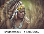 Indian Woman Portrait Outdoors...