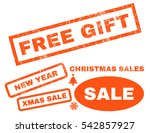 free gift rubber seal stamp... | Shutterstock .eps vector #542857927