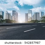 modern urban buildings and roads | Shutterstock . vector #542857987