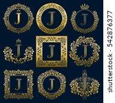 vintage monograms set of j... | Shutterstock .eps vector #542876377