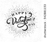 creative happy valentine's day... | Shutterstock .eps vector #542881153