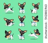 cartoon character toy terrier... | Shutterstock .eps vector #542881963