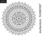 flower mandala. vintage...   Shutterstock .eps vector #542885587