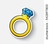 vector illustration. gold ring... | Shutterstock .eps vector #542897803