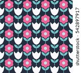seamless floral background.... | Shutterstock .eps vector #542897917