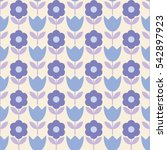 seamless floral background.... | Shutterstock .eps vector #542897923