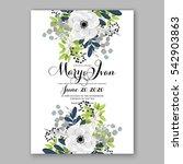 anemone wedding invitation card ... | Shutterstock .eps vector #542903863
