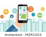 digital business and social... | Shutterstock .eps vector #542911513