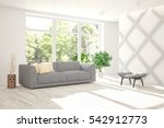 white room with sofa and green... | Shutterstock . vector #542912773