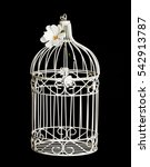Shabby Chic Bird Cage Isolated...