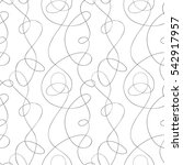 calligraphic curved lines... | Shutterstock .eps vector #542917957
