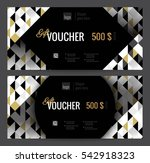 gift voucher coupon discount.... | Shutterstock .eps vector #542918323