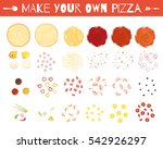 set of pizza elements in... | Shutterstock .eps vector #542926297
