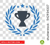 vector glory cup laurel wreath... | Shutterstock .eps vector #542934337