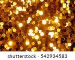 golden sequins shimmering... | Shutterstock . vector #542934583