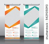roll up business brochure flyer ... | Shutterstock .eps vector #542935093