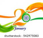 26th of january indian republic ... | Shutterstock .eps vector #542975083