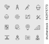 engineering simple icons.... | Shutterstock .eps vector #542975773