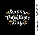 happy valentines day typography ... | Shutterstock .eps vector #542988223