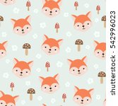 cute seamless pattern with... | Shutterstock .eps vector #542996023