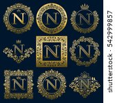 vintage monograms set of n... | Shutterstock .eps vector #542999857