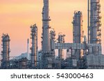 oil and gas industry refinery... | Shutterstock . vector #543000463