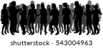a large group of people ... | Shutterstock .eps vector #543004963