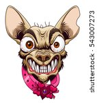 head of angry cartoon chihuahua | Shutterstock .eps vector #543007273
