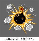 comic bomb | Shutterstock .eps vector #543011287